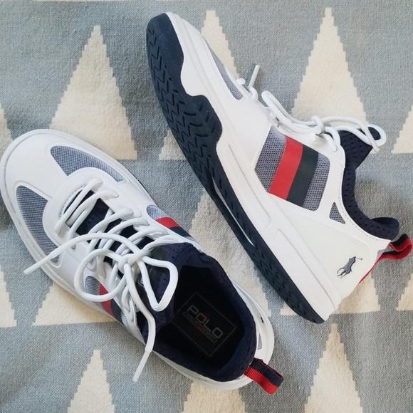 Lauren Court Mesh Ralph Sneaker 200 wOk0Pn
